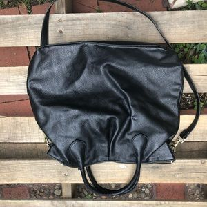 H&M black faux leather purse handbag  strap